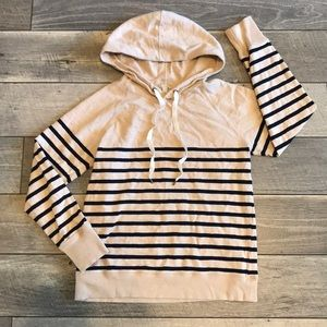 J. Crew Striped Pullover Hoodie